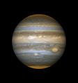 realistic planet Jupiter vector image vector image