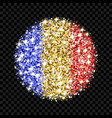 romania and chad flag sparkling badge vector image