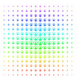 rounded user portrait shape halftone spectral vector image vector image