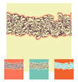 seamless decorative element border set vector image vector image
