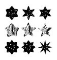 set black hand drawn isolated stars vector image vector image