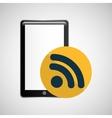 smartphone black wifi graphic vector image vector image