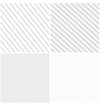 striped patterns seamless vector image vector image