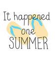 summer cartoon lettering vector image