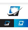 Swoosh Shield Logo Icon vector image vector image