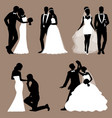 the bride and groom set collection vector image vector image