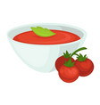 tomato soup icon for tomatoes vegetable vector image vector image