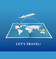 travel by airplane realistic composition vector image vector image