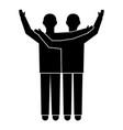two brotherhood boy icon simple style vector image
