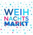 weihnachtsmarkt poster background weihnachten vector image vector image
