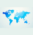 world map blue geometric shape texture vector image