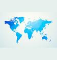 world map blue geometric shape texture vector image vector image