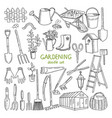 hand drawn of gardening vector image