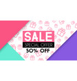 sale banner template design for fashion promotion vector image