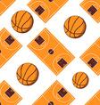 Sketch basketball seamless pattern vector image