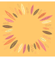 Funny autumn leaves forming a wreath vector image