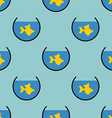 Goldfish in an aquarium seamless pattern vector image