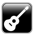Guitar sign button vector image