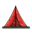 tent icon image vector image