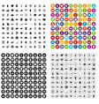 100 hand icons set variant vector image vector image