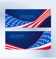 american flag 4th of july banners vector image vector image