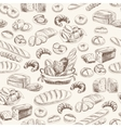bakery retro seamless pattern vector image