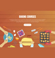 baking courses landing page templates set baking vector image vector image