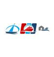boat shed repair workshop set vector image vector image