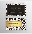 business card trendy leopard pattern wild animals vector image