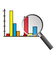 Business graph analysis vector image vector image