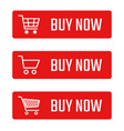 buy now button set shopping trolley signs vector image vector image