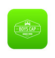 cap icon green vector image vector image
