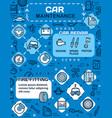 car spare parts vehicle wheel tire auto service vector image vector image