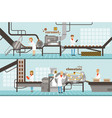 chocolate and caramel factory production lines set vector image vector image