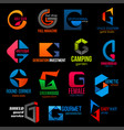 company modern colorful corporate identity h icons vector image vector image