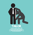 Customer Getting Measure By Tailor Symbol vector image vector image