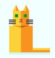 Cute bright flat cat vector image vector image