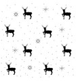 deer and christmas tree on gray seamless pattern vector image vector image