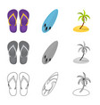 design of equipment and swimming sign vector image