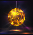 disco ball 80s party light element retro vector image
