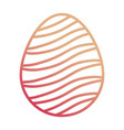easter egg with curved lines d vector image vector image