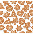 festive christmas seamless pattern with vector image vector image