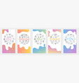 five internet banners - online browser vector image vector image
