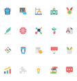 Flat Education Icons 5 vector image vector image
