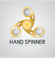 gold hand spinner fidget toy vector image vector image