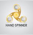 Gold hand spinner fidget toy