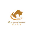 golden retriever logotype vector image