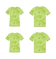 Green short sleeve t-shirts templates with the vector image vector image