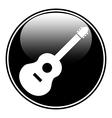 Guitar sign button vector image vector image