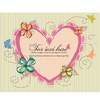 Heart with floral vector | Price: 1 Credit (USD $1)